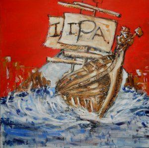 """schilderij voor Hertmes Hoeckje's """"English IPA"""""""